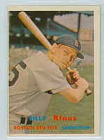 1957 Topps Baseball 292 Billy Klaus Tough Series Single Print Boston Red Sox Very Good to Excellent