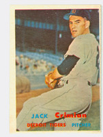 1957 Topps Baseball 297 Jack Crimian Tough Series Single Print Detroit Tigers Very Good