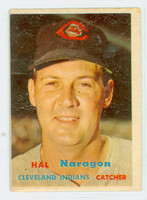 1957 Topps Baseball 347 Hal Naragon Tough Series Single Print Cleveland Indians Good to Very Good