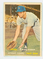 1957 Topps Baseball 357 Earl Torgeson Detroit Tigers Very Good