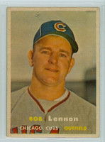 1957 Topps Baseball 371 Bob Lennon Chicago Cubs Very Good to Excellent