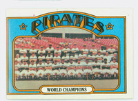 1972 Topps Baseball 1 Pirates Team Very Good