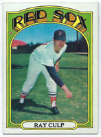 1972 Topps Baseball 2 Ray Culp Boston Red Sox Excellent