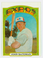 1972 Topps Baseball 5 John Bateman Montreal Expos Very Good to Excellent