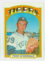 1972 Topps Baseball 6 Fred Scherman Detroit Tigers Excellent to Mint