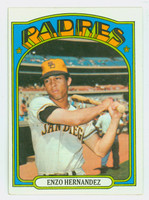 1972 Topps Baseball 7 Enzo Hernandez San Diego Padres Excellent to Mint