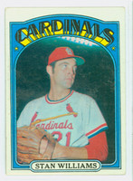 1972 Topps Baseball 9 Stan Williams St. Louis Cardinals Very Good to Excellent