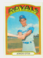 1972 Topps Baseball 10 Amos Otis Kansas City Royals Excellent to Mint