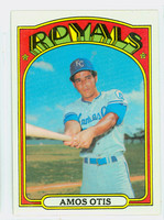 1972 Topps Baseball 10 Amos Otis Kansas City Royals Near-Mint