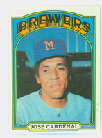 1972 Topps Baseball 12 Jose Cardenal Milwaukee Brewers Near-Mint