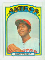 1972 Topps Baseball 20 Don Wilson Houston Astros Excellent to Mint