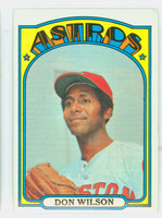 1972 Topps Baseball 20 Don Wilson Houston Astros Near-Mint