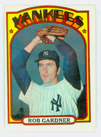 1972 Topps Baseball 22 Rob Gardner New York Yankees Very Good to Excellent