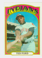 1972 Topps Baseball 24 Ted Ford Cleveland Indians Excellent to Excellent Plus