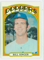1972 Topps Baseball 25 Bill Singer Los Angeles Dodgers Excellent