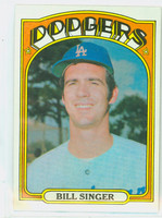 1972 Topps Baseball 25 Bill Singer Los Angeles Dodgers Near-Mint