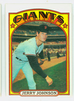 1972 Topps Baseball 35 Jerry Johnson San Francisco Giants Excellent to Excellent Plus