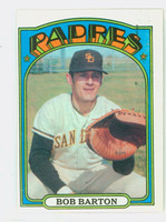 1972 Topps Baseball 39 Bob Barton San Diego Padres Excellent to Excellent Plus