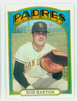 1972 Topps Baseball 39 Bob Barton San Diego Padres Excellent to Mint