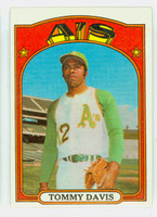 1972 Topps Baseball 41 Tommy Davis Oakland Athletics Excellent to Excellent Plus