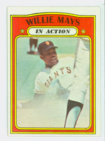 1972 Topps Baseball 50 Willie Mays San Francisco Giants Excellent to Excellent Plus