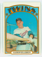 1972 Topps Baseball 51 Harmon Killebrew Minnesota Twins Excellent to Mint