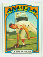 1972 Topps Baseball 55 Clyde Wright California Angels Excellent to Mint