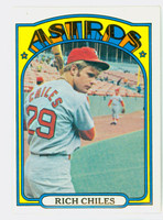 1972 Topps Baseball 56 Rich Chiles Houston Astros Excellent to Mint