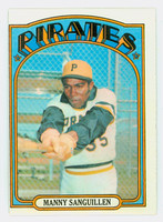 1972 Topps Baseball 60 Manny Sanguillen Pittsburgh Pirates Very Good