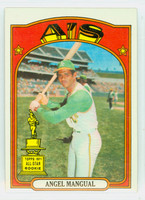 1972 Topps Baseball 62 Angel Mangual Oakland Athletics Excellent