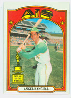 1972 Topps Baseball 62 Angel Mangual Oakland Athletics Near-Mint