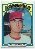 1972 Topps Baseball 64 Pete Broberg Texas Rangers Very Good to Excellent