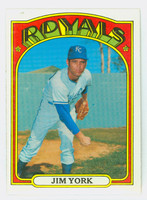 1972 Topps Baseball 68 Jim York Kansas City Royals Near-Mint