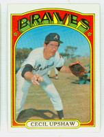 1972 Topps Baseball 74 Cecil Upshaw Atlanta Braves Excellent to Mint