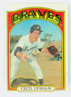 1972 Topps Baseball 74 Cecil Upshaw Atlanta Braves Near-Mint