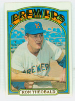 1972 Topps Baseball 77 Ron Theobald Milwaukee Brewers Near-Mint