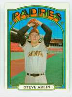1972 Topps Baseball 78 Steve Arlin San Diego Padres Excellent to Mint