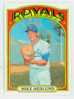 1972 Topps Baseball 81 Mike Hedlund Kansas City Royals Near-Mint