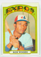 1972 Topps Baseball 82 Ron Woods Montreal Expos Excellent to Excellent Plus