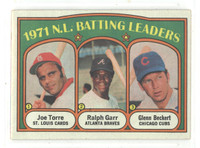 1972 Topps Baseball 85 NL Batting Leaders Excellent to Excellent Plus