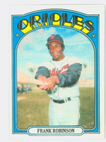1972 Topps Baseball 100 Frank Robinson Baltimore Orioles Excellent to Mint