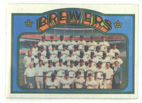1972 Topps Baseball 106 Brewers Team Excellent