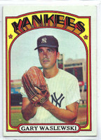 1972 Topps Baseball 108 Gary Waslewski New York Yankees Very Good to Excellent