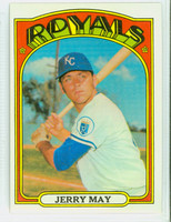 1972 Topps Baseball 109 Jerry May Kansas City Royals Near-Mint