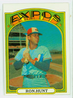 1972 Topps Baseball 110 Ron Hunt Montreal Expos Excellent to Excellent Plus