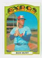 1972 Topps Baseball 110 Ron Hunt Montreal Expos Near-Mint