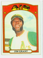 1972 Topps Baseball 111 Jim Grant Oakland Athletics Very Good to Excellent
