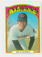 1972 Topps Baseball 116 Ed Farmer Cleveland Indians Near-Mint