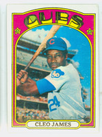 1972 Topps Baseball 117 b Cleo James YELLOW  Chicago Cubs Near-Mint