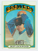 1972 Topps Baseball 118 Skip Lockwood Milwaukee Brewers Near-Mint